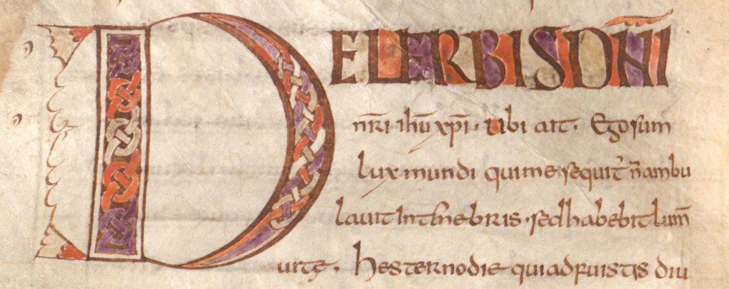 Clm 14653, f. 29v: Augustinus-Handschrift in einer angelsächsischen Minuskel des 8. Jh.
